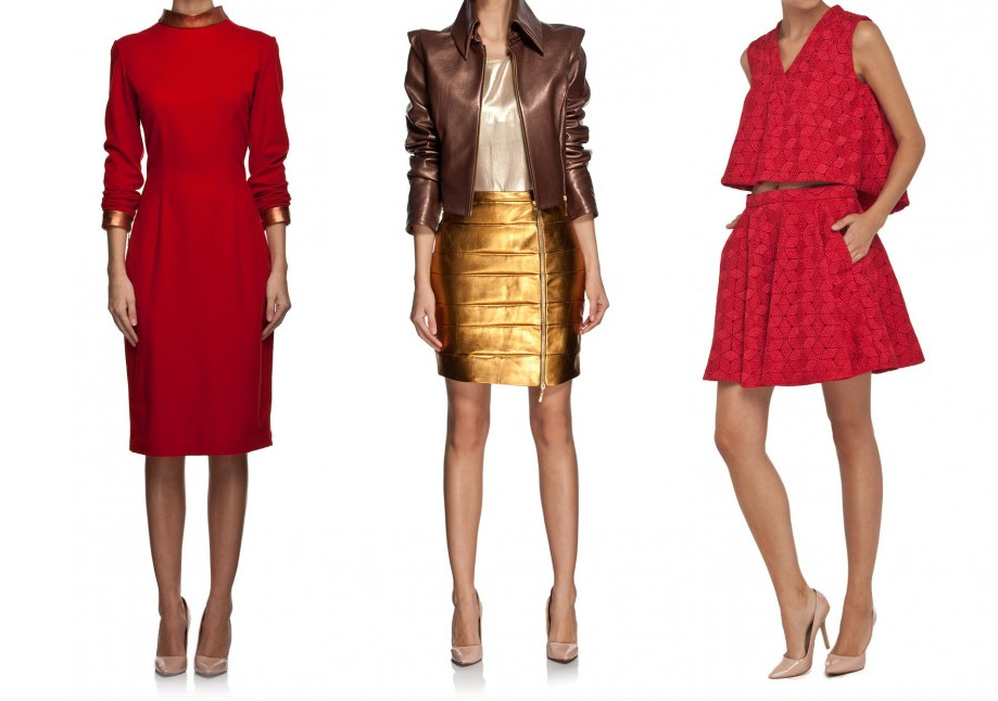 Trend kolor – czerwień i złoto