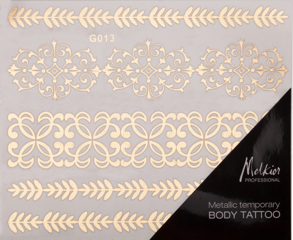 Metalic Temporary Body Tattoo Melkior Professional