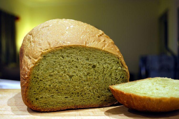 Domowy chleb matcha