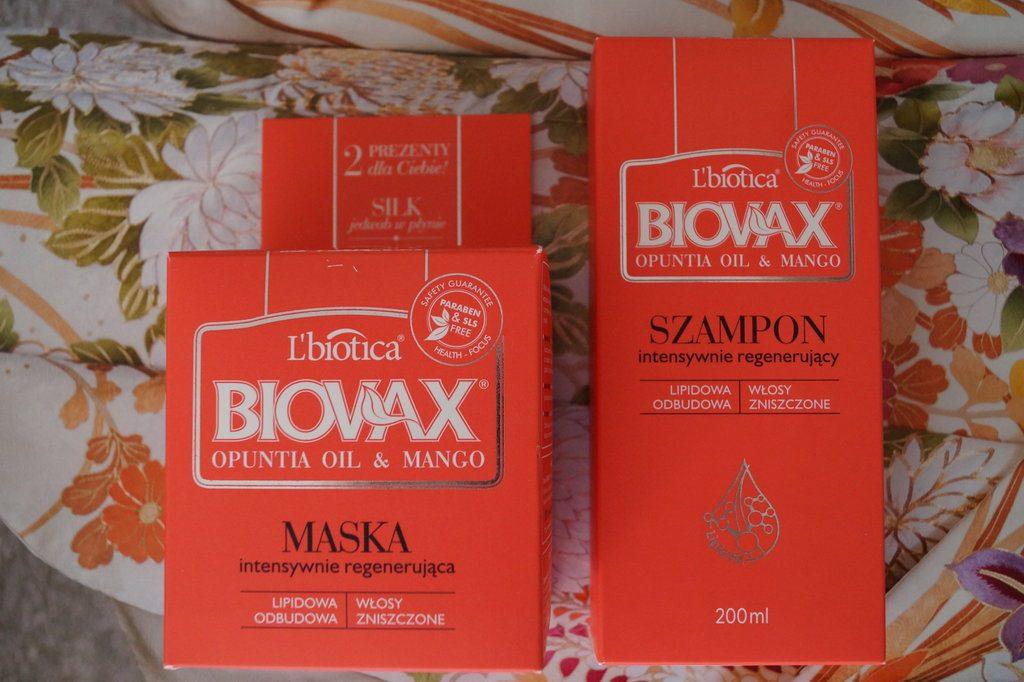 Szampon i maska Biovax Opuncja i Mango
