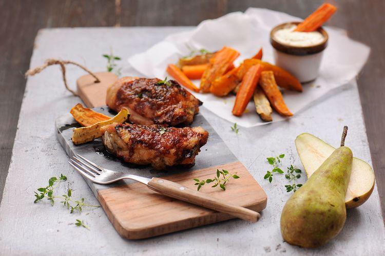 Kolory i smaki jesieni – Przepis na uda kurczaka w gruszkowym miodzie