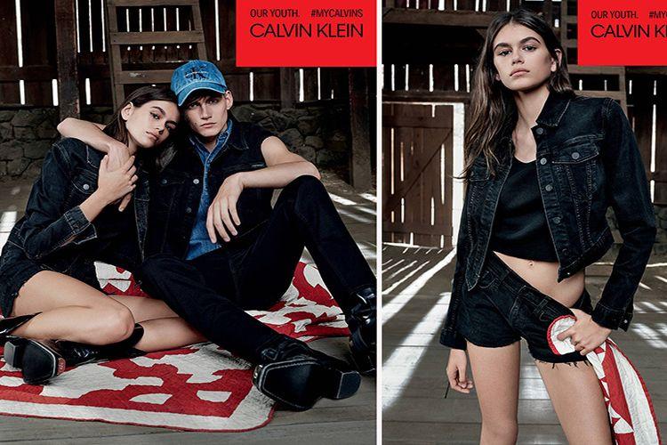 Kaia i Presley Gerber w wiosennej kampanii Calvin Klein