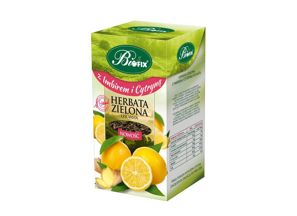 BIFIX herbata zielona z imbirem i cytryną