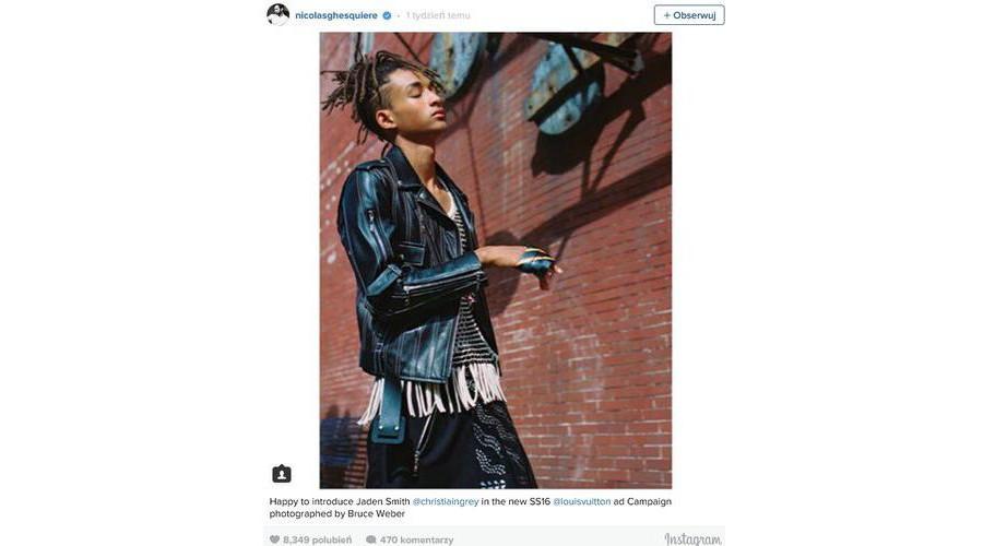 Jaden Smith twarzą kampanii Louis Vuitton's SS16 dla kobiet