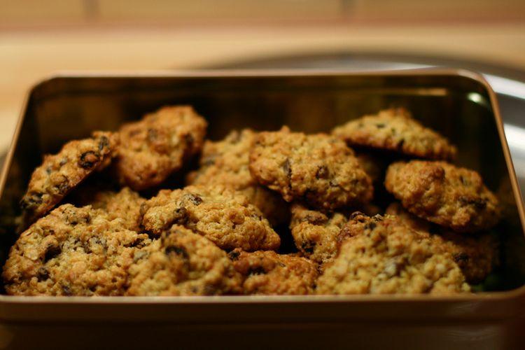 Gotowane ciasteczka owsiane