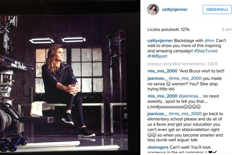 Caitlyn Jenner nową twarzą H&M sport