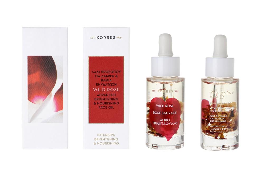 Korres Wild Rose rozświetlający olejek do twarzy