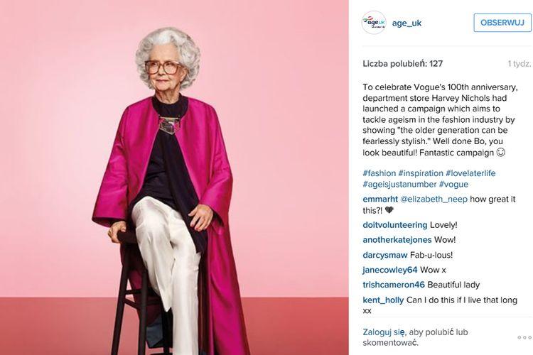 100-letnia modelka na stulecie Vogue'a