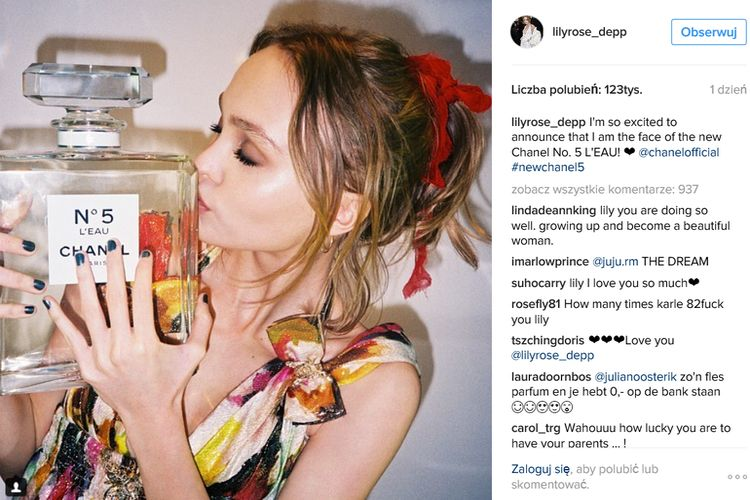 Lily Rose Depp nową twarzą Chanel No. 5