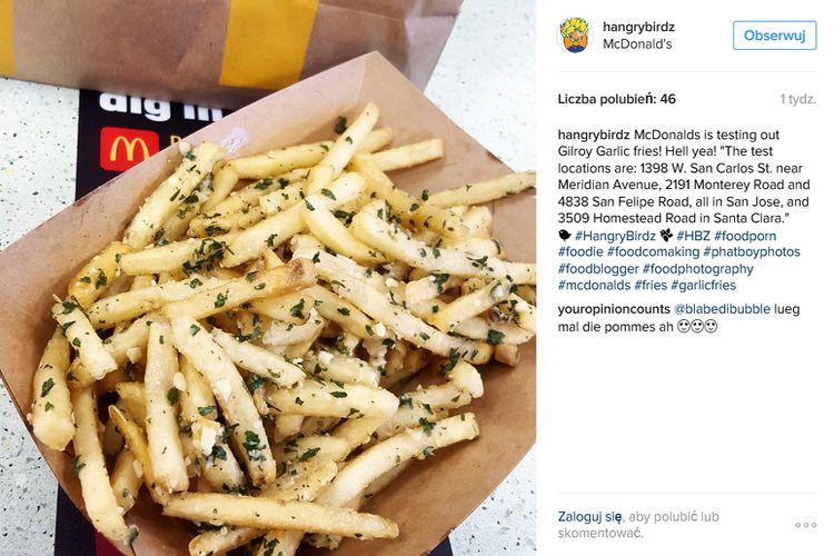 Czosnkowe frytki nowym hitem McDonald's