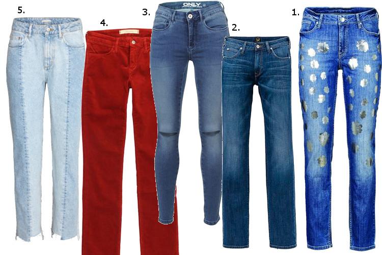Szczęśliwe kobiety noszą jeansy rurki