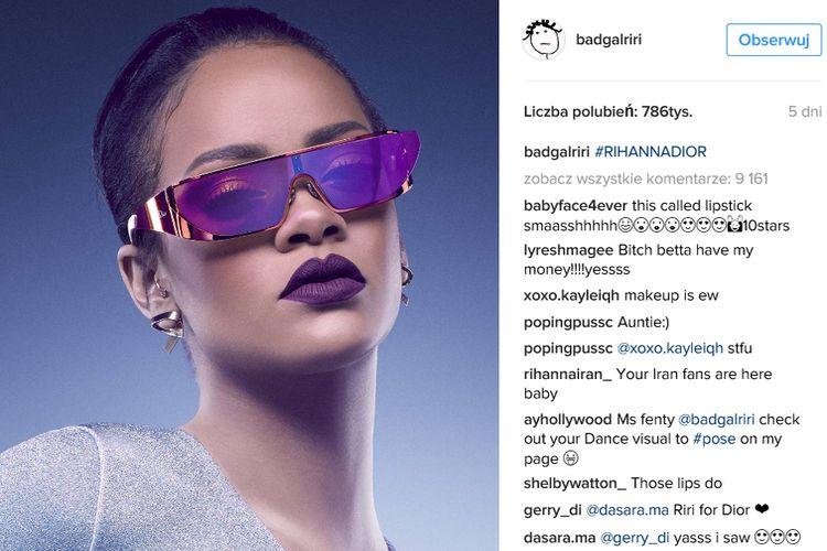 Okulary Dior od Rihanny