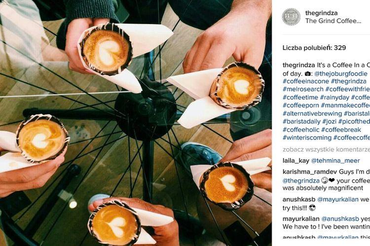 Nowy trend: kawa w waflu do lodów
