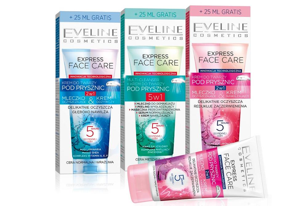 Express Face Care – kremy do twarzy pod prysznic od Eveline