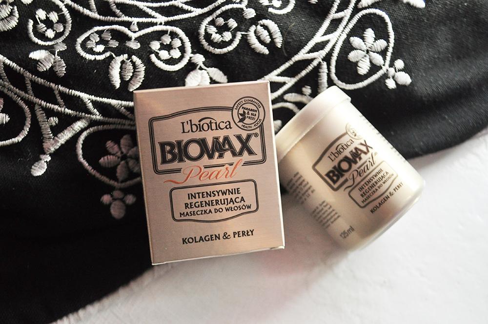 Maska intensywnie regenerująca Biovax Pearl, Kolagen & Perły