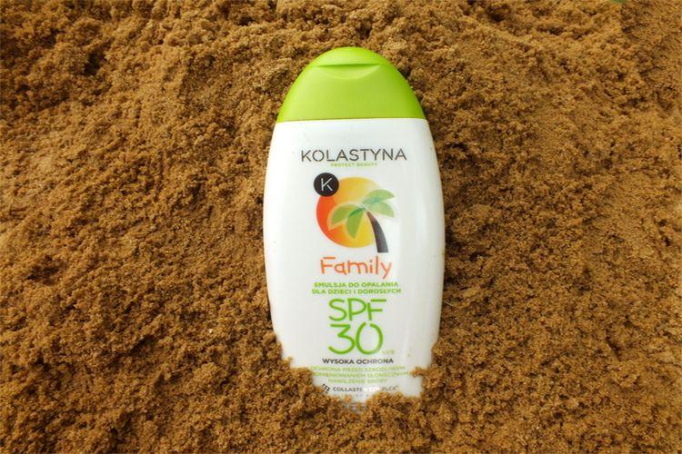 Kolastyna, Emulsja do opalania Family SPF 30 dla dzieci i dorosłych