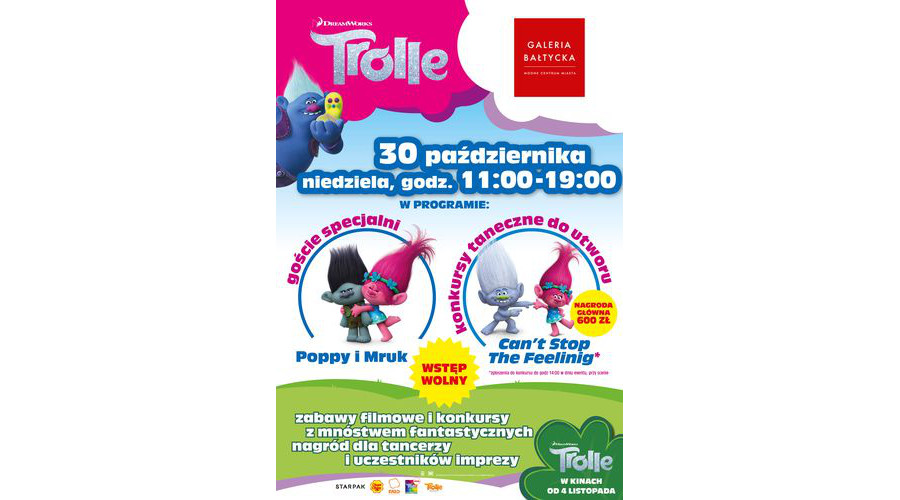 Trolle !  Po raz pierwszy w historii. Konkurs Tańca Trolli w Gdańsku.