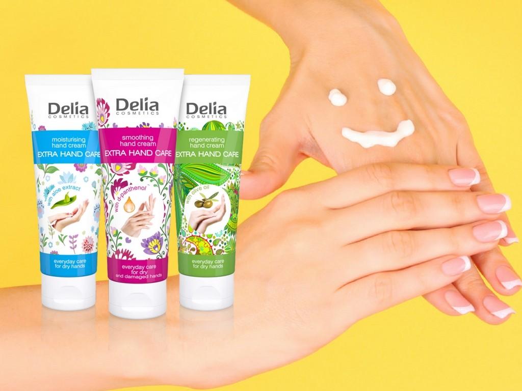 Kremy do rąk marki Delia