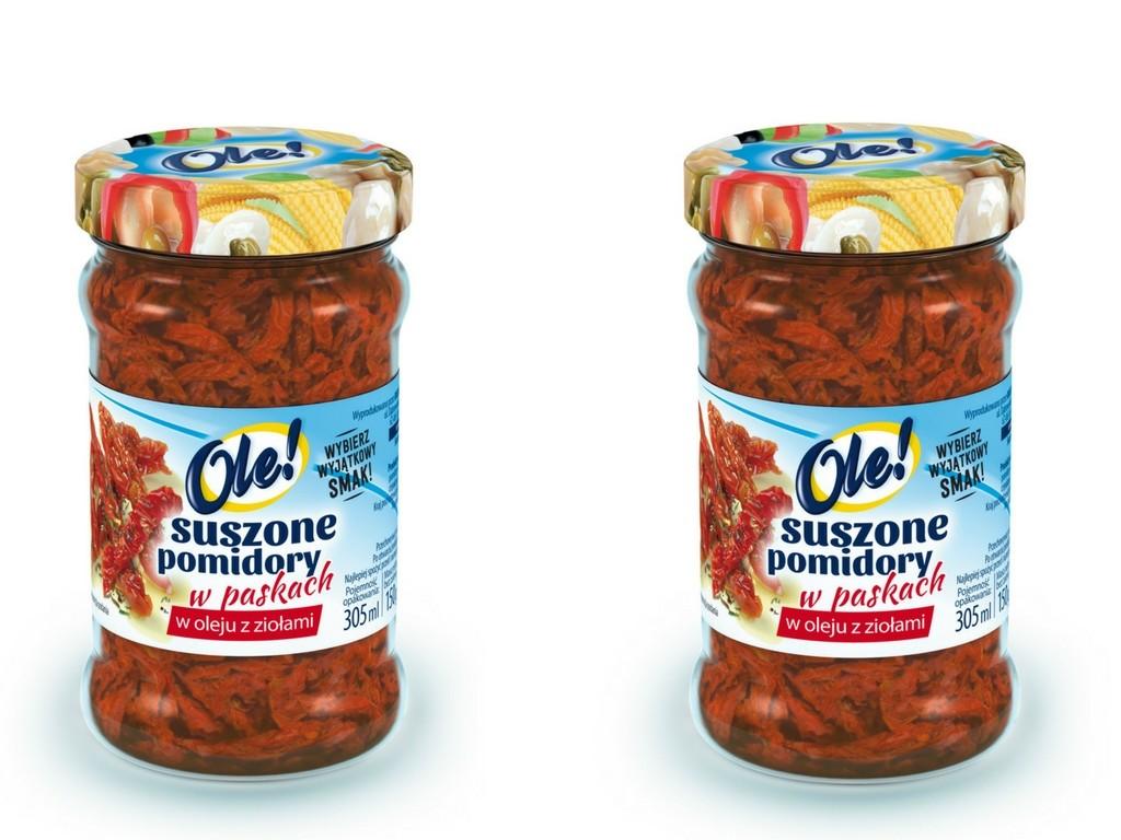 Suszone pomidory w paskach w oleju z ziołami OLE!