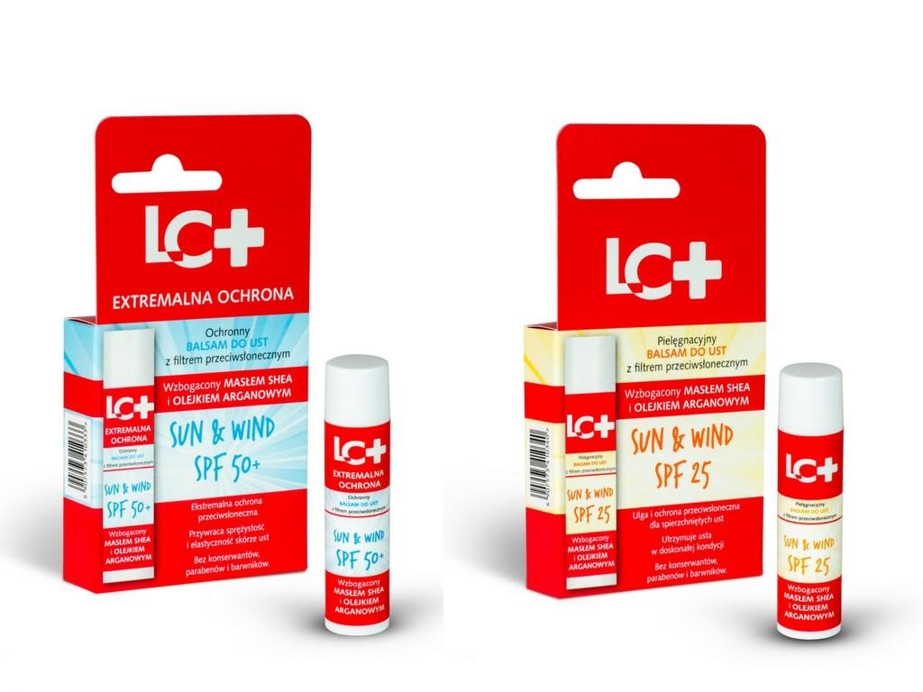 Balsamy LC+ chroniące przed wiatrem i słońcem