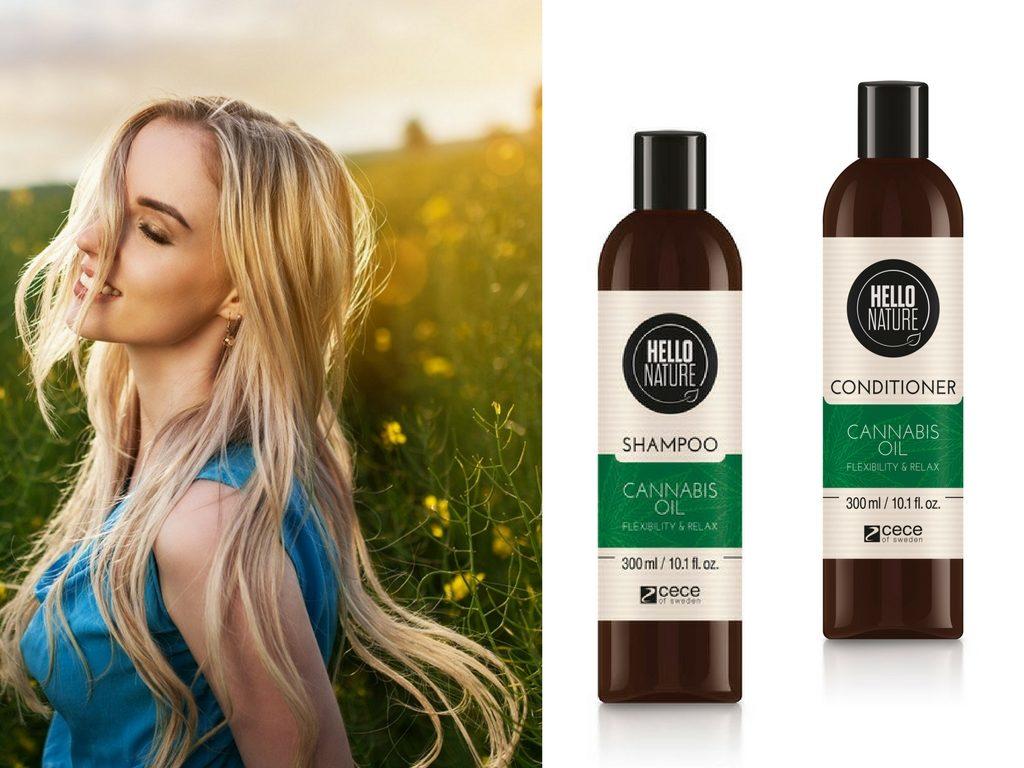 Hello Nature Cannabis Oil do regeneracji włosów