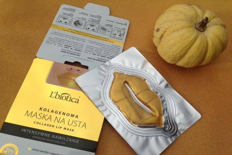 Kolagenowa maska na usta L'biotica  – Intensywne Nawilżenie
