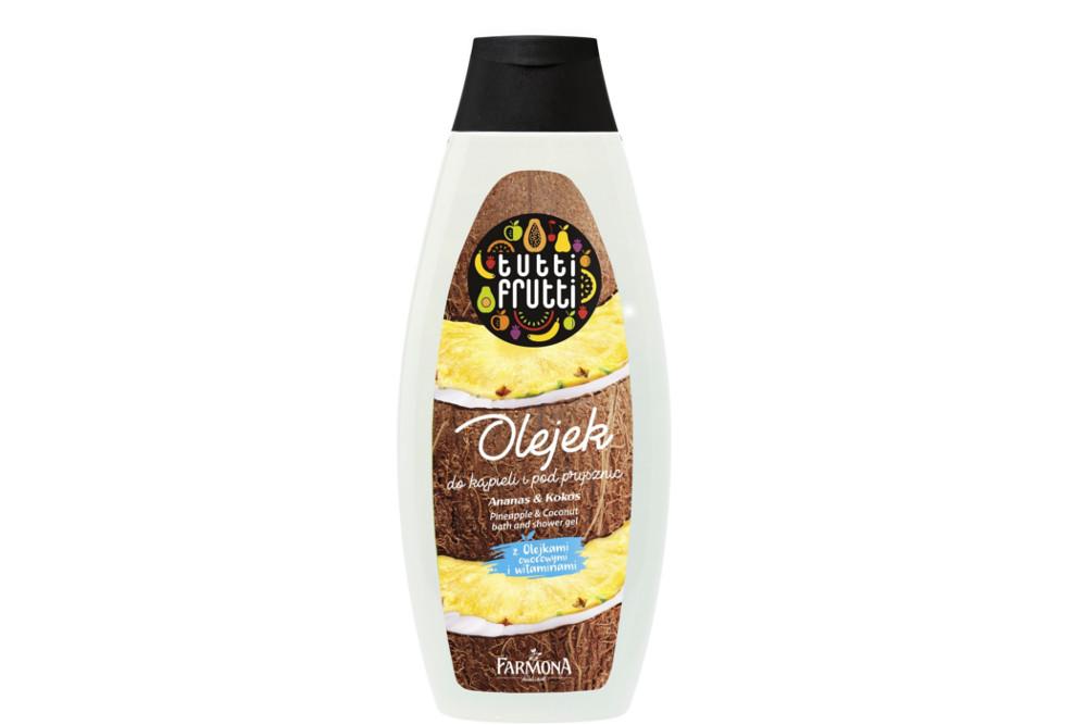 Olejek do kąpieli i pod prysznic Ananas&Kokos