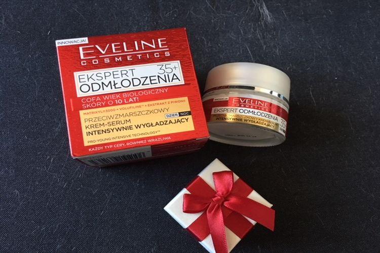 Eveline, Ekspert Odmłodzenia 35+, Przeciwzmarszczkowy krem-serum intensywnie wygładzający na dzień i na noc