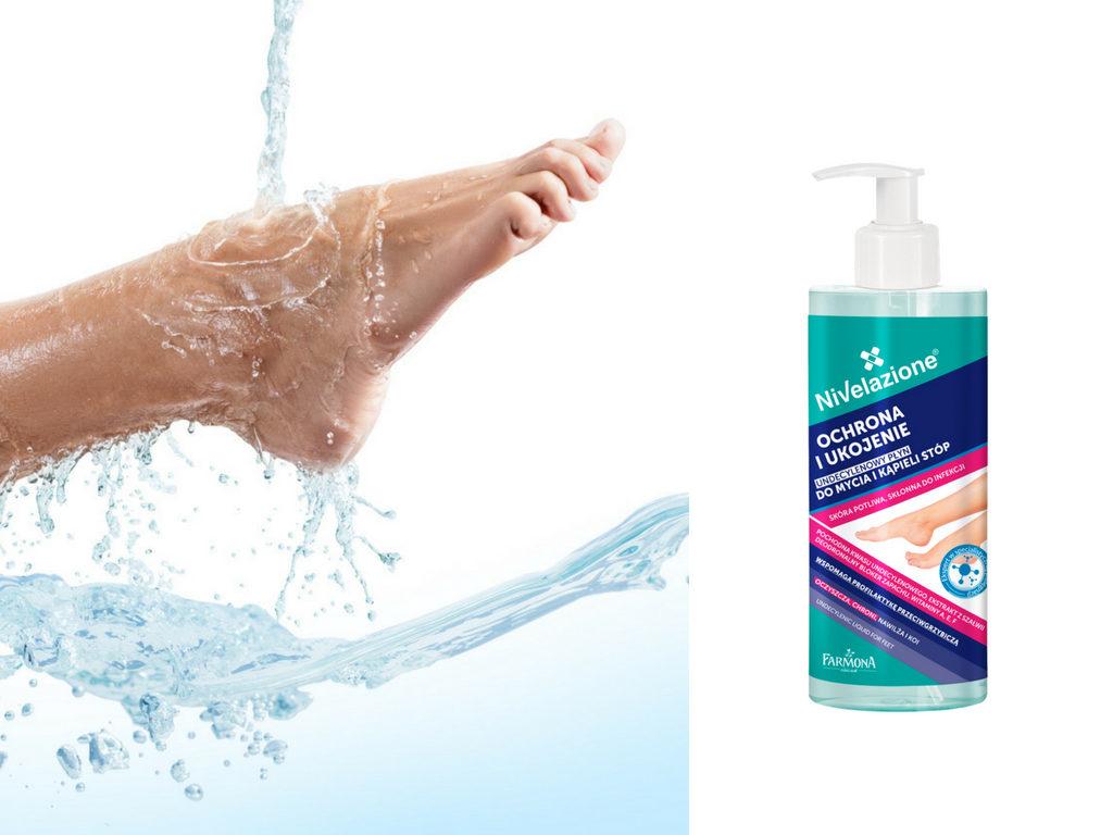 Undecylenowy płyn do mycia i kąpieli stóp Nivelazione