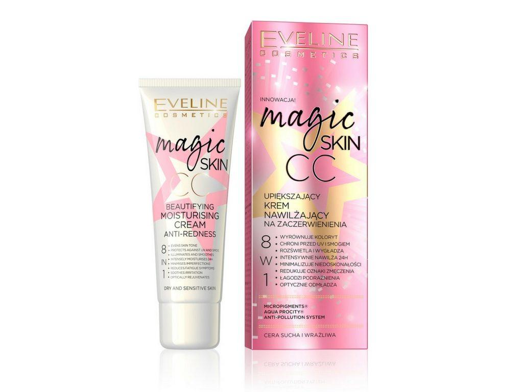 Upiększający Krem Nawilżający CC 8w1 na zaczerwienienia Magic Skin Eveline Cosmetics