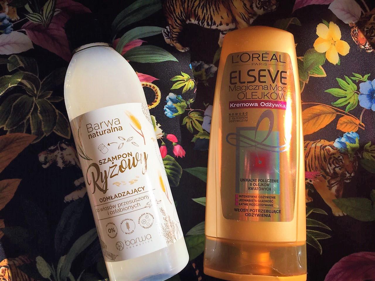 Zgrany duet: Odmładzający szampon ryżowy Barwa Naturalna i odżywka L'Oréal Elseve