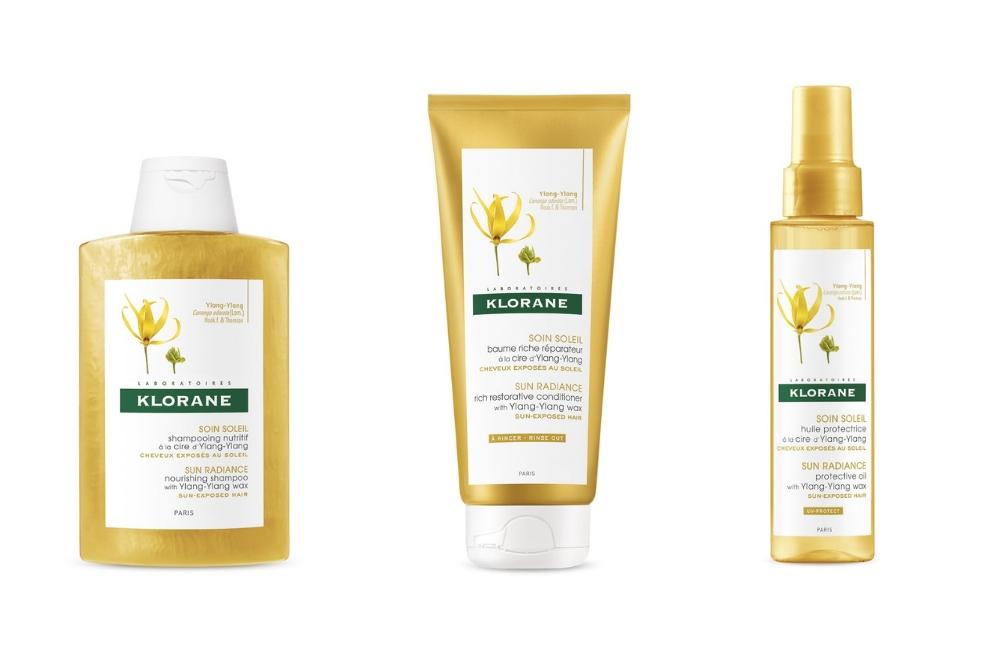 Klorane Ylang-Ylang chroni włosy przed słońcem