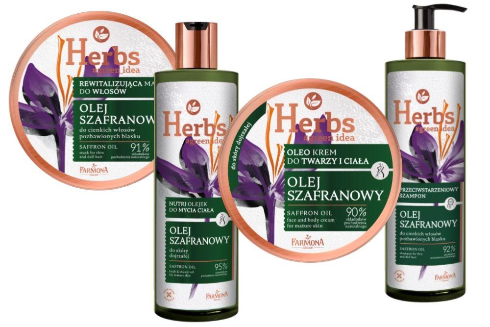 Szafranowa linia HERBS dla pięknej cery i włosów