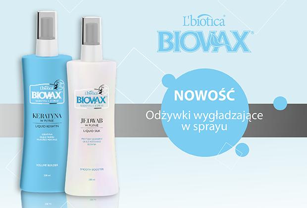 Odżywki do włosów w sprayu BIOVAX Keratyna + Jedwab
