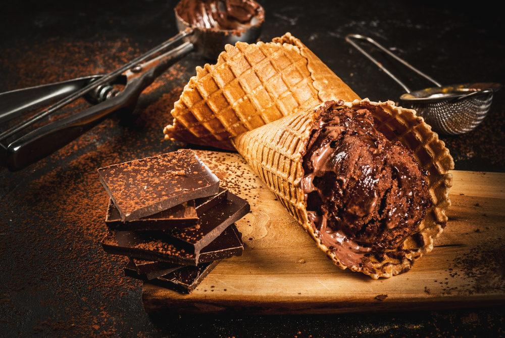 Zdrowe lody czekoladowe